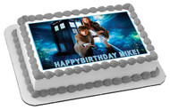 Dr Who Tardis 2 Edible Birthday Cake Topper OR Cupcake Topper, Decor