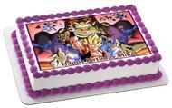 Dragon Ball Z Edible Birthday Cake Topper OR Cupcake Topper, Decor