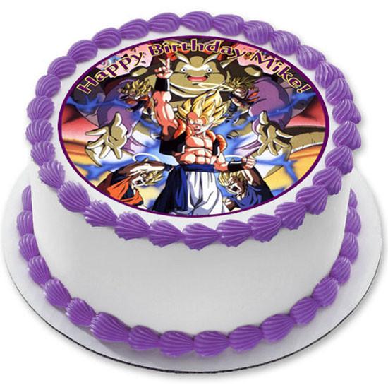 Dragon Ball Z Edible Birthday Cake Topper