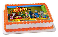 El Chavo 3 Edible Birthday Cake Topper OR Cupcake Topper, Decor