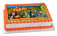 El Chavo 3 Edible Birthday Cake Topper OR Cupcake Topper, Decor