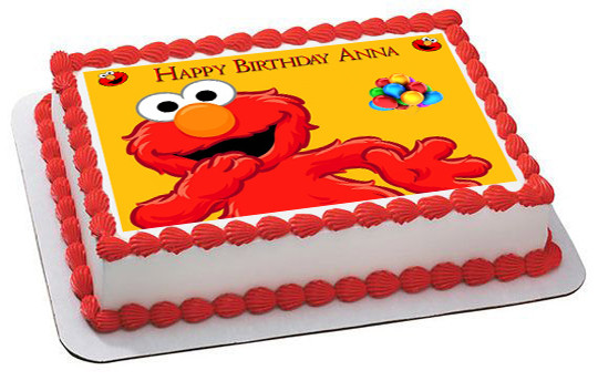 Elmo Edible Birthday Cake Topper Or Cupcake Topper Decor