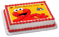 Elmo Edible Birthday Cake Topper OR Cupcake Topper, Decor