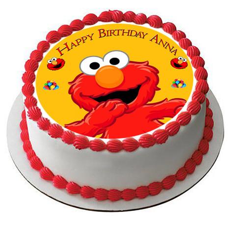 Elmo Edible Birthday Cake Topper