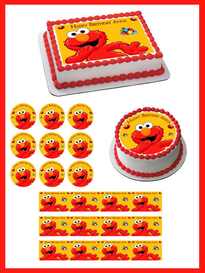 Elmo Edible Birthday Cake Topper Or Cupcake Topper Decor