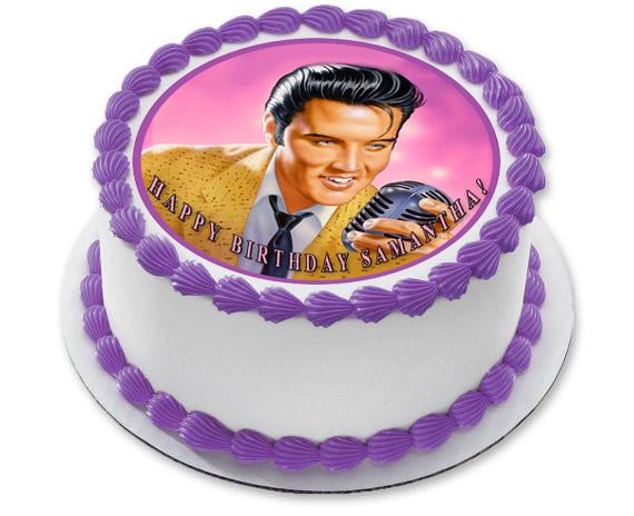 Sensational Elvis Presley Edible Birthday Cake Topper Birthday Cards Printable Inklcafe Filternl