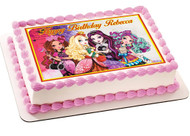 Ever After High 2 Edible Birthday Cake Topper OR Cupcake Topper, Decor