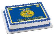 FFA  Edible Birthday Cake Topper OR Cupcake Topper, Decor