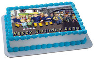 Fireman Sam 2 Edible Birthday Cake Topper OR Cupcake Topper, Decor