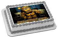 Five Nights at Freddy's 3 Edible Birthday Cake Topper OR Cupcake Topper, Decor