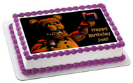 Five Nights at Freddy's 4 Edible Birthday Cake Topper OR Cupcake Topper, Decor