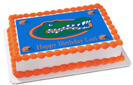 Florida Gators Edible Birthday Cake Topper OR Cupcake Topper, Decor