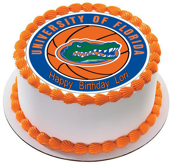 Groovy Florida Gators Edible Birthday Cake Topper Personalised Birthday Cards Veneteletsinfo