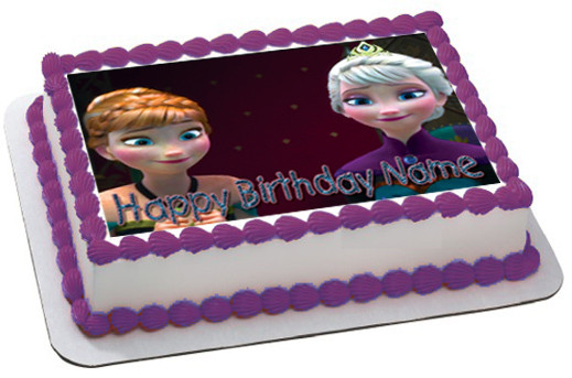 Tremendous Frozen 2 Edible Birthday Cake Topper Funny Birthday Cards Online Elaedamsfinfo