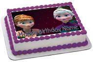 FROZEN 2 Edible Birthday Cake Topper OR Cupcake Topper, Decor