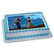 FROZEN 4 Edible Birthday Cake Topper OR Cupcake Topper, Decor
