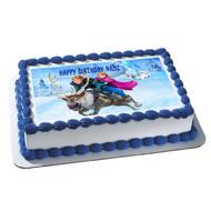 FROZEN 6 Edible Birthday Cake Topper OR Cupcake Topper, Decor