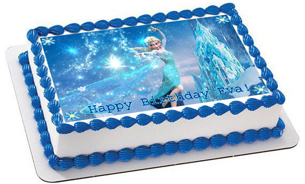 Surprising Frozen Elsa Edible Birthday Cake Topper Birthday Cards Printable Trancafe Filternl