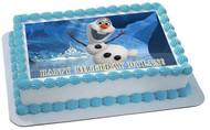 FROZEN Olaf Edible Birthday Cake Topper OR Cupcake Topper, Decor