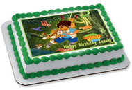 Go Diego Go Edible Birthday Cake Topper OR Cupcake Topper, Decor