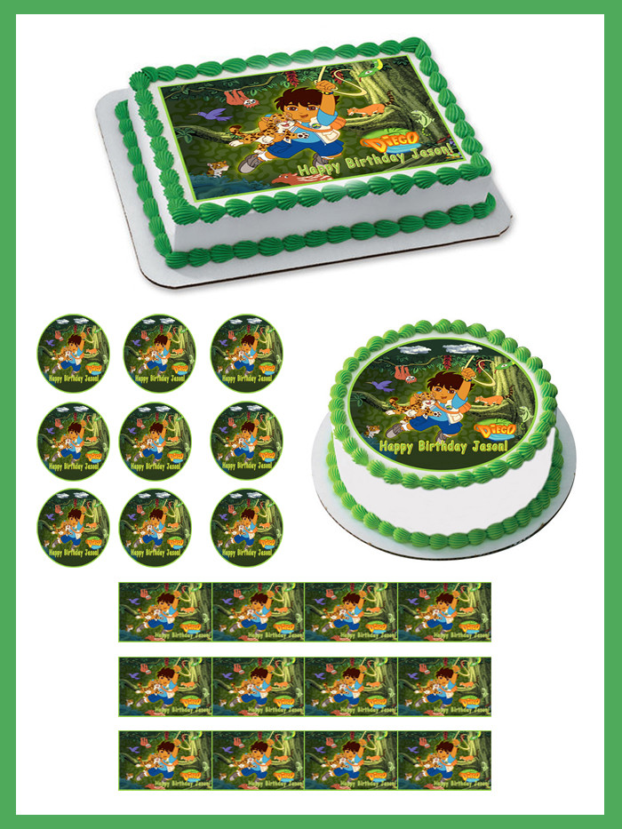 Excellent Go Diego Go Edible Birthday Cake Topper Funny Birthday Cards Online Alyptdamsfinfo