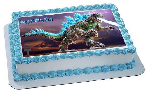 Godzilla 2 Edible Birthday Cake Topper