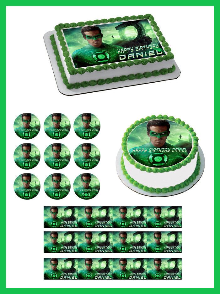 Prime Green Lantern Edible Birthday Cake Topper Funny Birthday Cards Online Amentibdeldamsfinfo