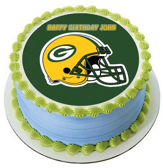 Groovy Greenbay Packers Edible Birthday Cake Topper Personalised Birthday Cards Rectzonderlifede