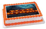 Halloween 1 Edible Birthday Cake Topper OR Cupcake Topper, Decor