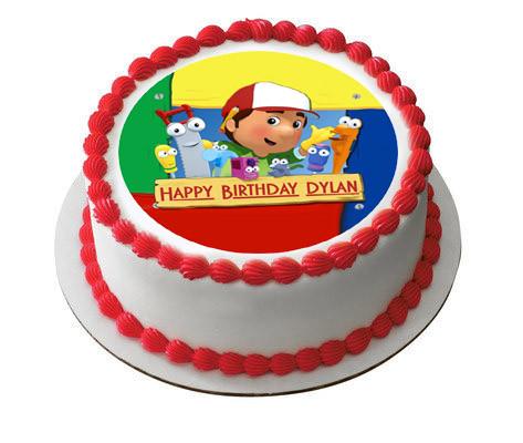 Fantastic Handy Manny Edible Birthday Cake Topper Birthday Cards Printable Inklcafe Filternl