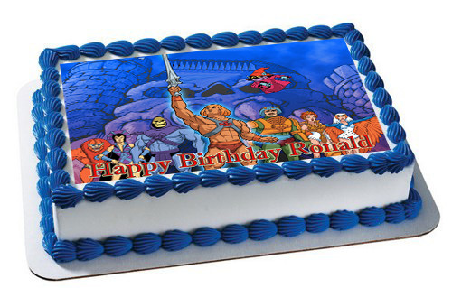 Superb He Man And The Masters Edible Birthday Cake Topper Funny Birthday Cards Online Sheoxdamsfinfo