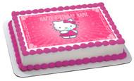 Hello Kitty Character 1 Edible Birthday Cake Topper OR Cupcake Topper, Decor