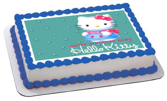 Hello Kitty Character 2 Edible Birthday Cake Topper Or Cupcake Topper Decor