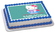 Hello Kitty Character 2 Edible Birthday Cake Topper OR Cupcake Topper, Decor