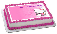 Hello Kitty Character 3 Edible Birthday Cake Topper OR Cupcake Topper, Decor