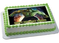 Hulk Edible Birthday Cake Topper OR Cupcake Topper, Decor