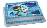 How the Grinch Stole Christmas 2 Edible Birthday Cake Topper OR Cupcake Topper, Decor