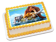 ICE AGE Edible Birthday Cake Topper OR Cupcake Topper, Decor