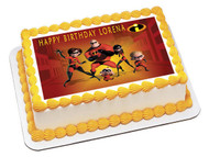 INCREDIBLES Edible Birthday Cake Topper OR Cupcake Topper, Decor