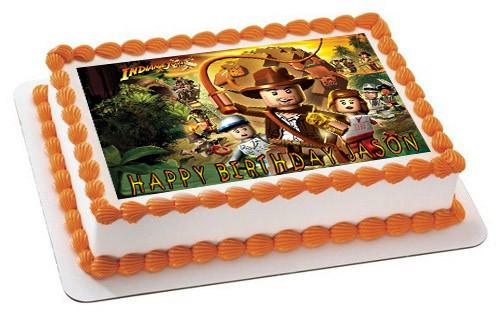 Lego Indiana Jones Edible Birthday Cake Topper