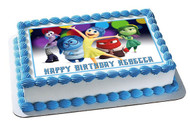Inside Out Anger 2 Edible Birthday Cake Topper OR Cupcake Topper, Decor