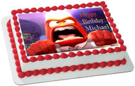 Inside Out Anger 4 Edible Birthday Cake Topper OR Cupcake Topper, Decor