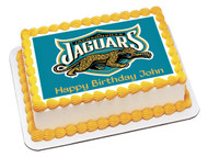 Jacksonville Jaguars Edible Birthday Cake Topper OR Cupcake Topper, Decor