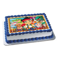 Jake and The Neverland Pirates Edible Birthday Cake Topper OR Cupcake Topper, Decor