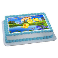 Japanese Edible Birthday Cake Topper OR Cupcake Topper, Decor