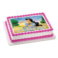 JASMINE Edible Birthday Cake Topper OR Cupcake Topper, Decor