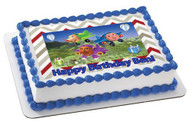 Jay Jay The Jet Plane Edible Birthday Cake Topper OR Cupcake Topper, Decor