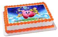 KIRBY Edible Birthday Cake Topper OR Cupcake Topper, Decor