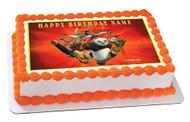 KUNG FU PANDA Edible Birthday Cake Topper OR Cupcake Topper, Decor