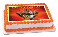 KUNG FU PANDA Edible Birthday Cake Topper OR Cupcake Topper, Decor